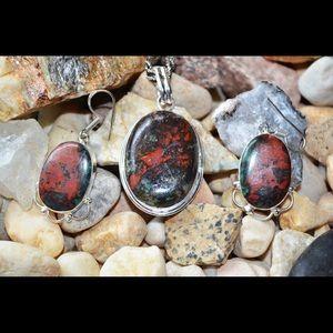 Cuprite Pendant & Earrings Set